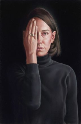 Leif Borges, Augenring, 2020, Acryl und Öl auf Leinwand, 60 x 40 cm