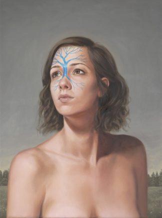Leif Borges, Branch, 2020, Acryl und Öl auf Leinwand, 40 x 30 cm