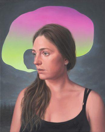 Leif Borges, Bubble, 2021, Acryl und Öl auf Leinwand, 50 x 40 cm