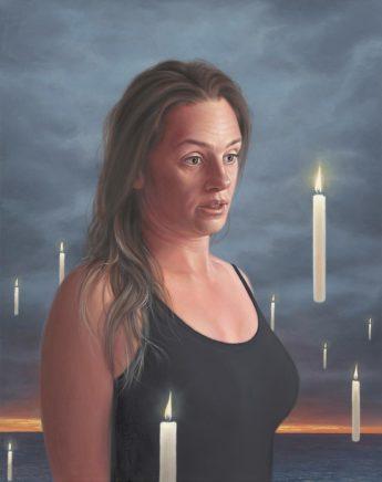 Leif Borges, Dawn, 2021, Acryl und Öl auf Leinwand, 50 x 40 cm