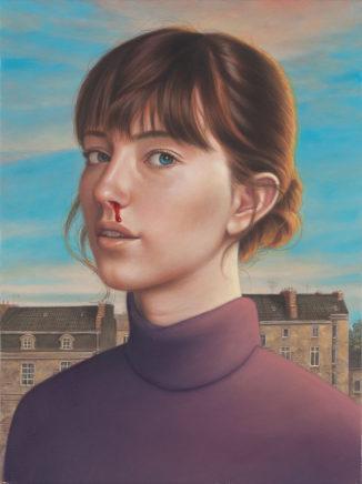 Leif Borges, Pretty girl, 2021, Acryl und Öl auf Leinwand, 40 x 30 cm
