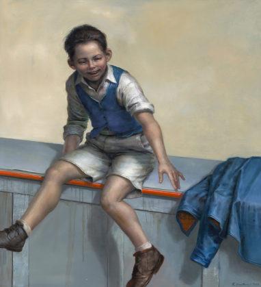 Frank Hauptvogel, Gewissheit, 2018, Öl auf Leinwand, 120 x 110 cm