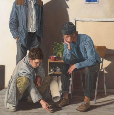 Sven Hoppler, Mein Arkadien, 2019, Öl auf Leinwand, 50 x 50 cm