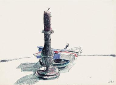 31.12.65, farbiger Kugelschreiber auf Papier, 20 x 28 cm