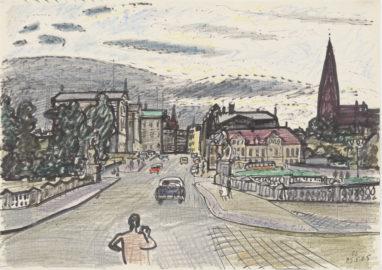 O.T. (Berlin), 25.8.1965, Mischtechnik auf Papier, 20,5 x 29,5 cm