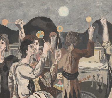 Willi Sitte, Seifenblasen, 1953, Öl auf Karton, 54 x 61 cm