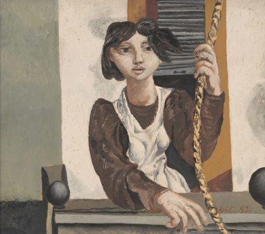 Willi Sitte, Mädchen mit Seil, 1954, Öl auf Karton, 54 x 61 cm