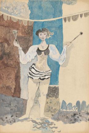 Willi Sitte, Artistin, 1949, Gouache, 75 x 50 cm