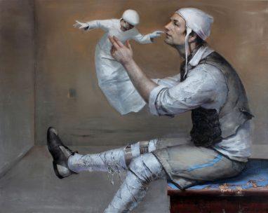 Frank Hauptvogel, Paradigma, 2018, Öl auf Leinwand, 80 x 100 cm