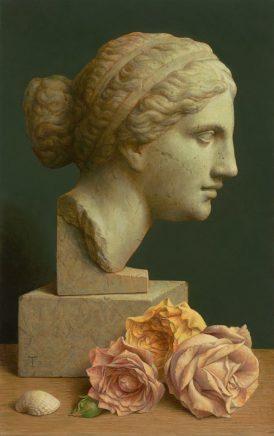 Michael Triegel, An Aphrodite, 2018, Mischtechnik auf MDF, 30 x 19 cm