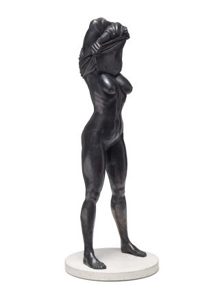Joscha Bender, Undress I, 2016, Bronze, 85 x 33 cm