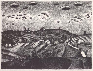 Wolfgang Mattheuer, Bergbaulandschaft, 1959, Lithografie, 40,4 x 53,6 cm
