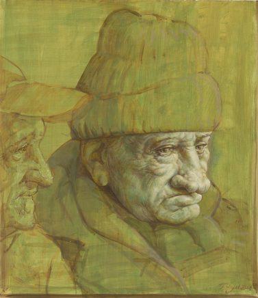 Michael Triegel, Neapolitaner, 2018, Acryl auf grundiertem Papier, 43 x 37,3 cm