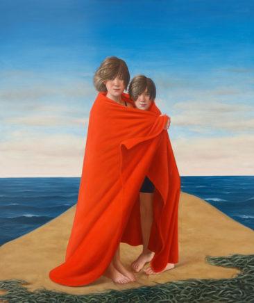 Matthias Ludwig, Zwei unter Einem, 2020, Mischtechnik auf MDF, 120 x 100 cm