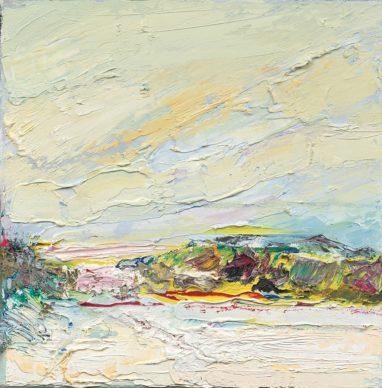 o.T. (#58), 2018, Öl auf Leinwand, 30 x 30 cm