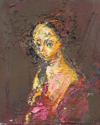 o.T. (#67), 2014, Öl auf Leinwand, 30 x 24 cm