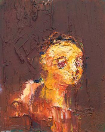 o.T. (#76), 2017, Öl auf Leinwand, 30 x 24 cm