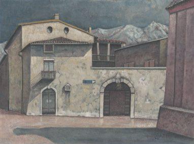Günther Blau, Afa, 1994, Tempera auf Hartfaser, 33 x 45 cm