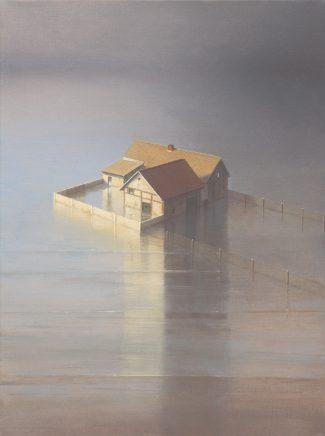Insel, 2012, Acryl und Öl auf Leinwand, 40 x 30 cm