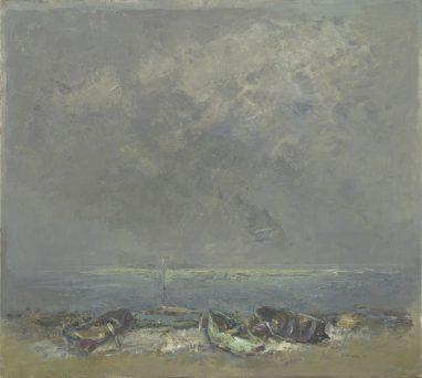 Bodden, 1975, Öl auf Leinwand, 80 x 90 cm