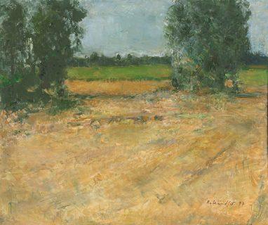 Abgeerntetes Feld, 1997, Öl auf Leinwand, 50 x 60 cm