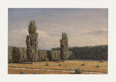 Markus Matthias Krüger, Konstellation, 2019, Acryl auf Papier, 9 x 12 cm