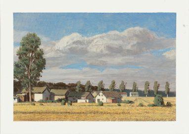 Markus Matthias Krüger, Weiler, 2019, Acryl auf Papier, 9 x 12 cm