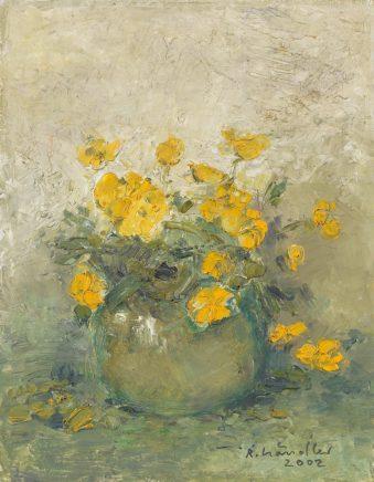 Winterlinge, 2002, Öl auf Hartfaser, 25,5 x 20 cm