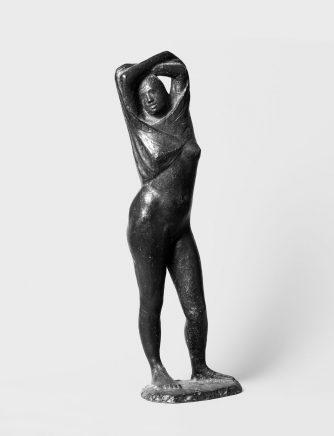 Fritz Cremer, Hemdausziehende, 1949, Bronze, H 58 cm