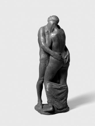 Fritz Cremer, Großes Liebespaar, 1972, Bronze, H 83 cm