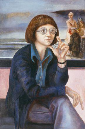 Ulrich Hachulla, Bildnis Julia F., 1976, Mischtechnik auf Hartfaser, 80 x 55cm