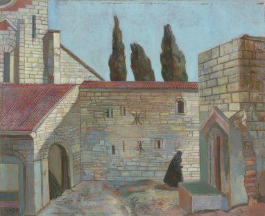 Ulrich Hachulla, Erinnerung an A., 1999, Mischtechnik auf Hartfaser, 40 x 49 cm
