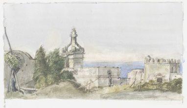 Capri - In den Gärten des Augustus, 1980, Aquarell, Blatt: 15,6 x 25,5 cm