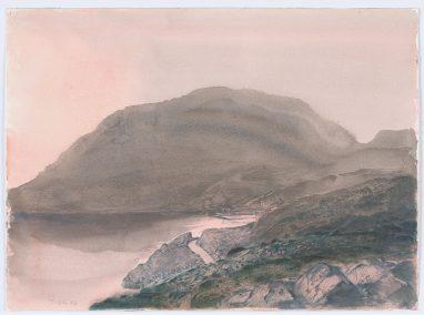 Vor Sonnenaufgang auf Hydra, 1982, Aquarell, 24,8 x 33,5 cm