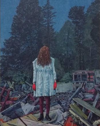 Sten Gutglück, A C I D, 2021, Acryl auf Holz, 40 x 30 cm