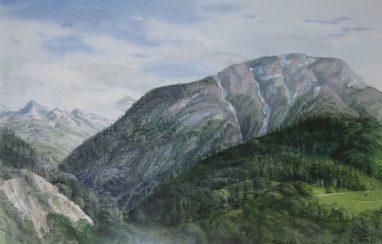 Michael Triegel, Breithorn (Wallis), 2009, Aquarell, 22 x 30 cm