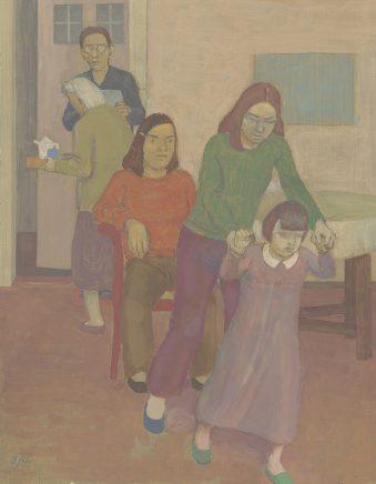Günter Thiele, Familienbild, 2014, Tempera auf Hartfaser, 35 x 27 cm