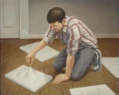 Leif Borges, The Adding, 2017, Acryl und Öl auf Leinwand, 80 x 100 cm