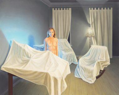 Leif Borges, Versteckspiel, 2017, Acryl und Öl auf Leinwand, 160 x 200 cm