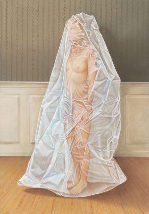 Leif Borges, Plastik, 2017, Acryl und Öl auf Leinwand, 200 x 140 cm