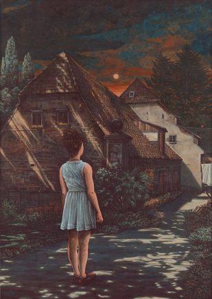 Sten Gutglück, Die Heimkehr II, 2019, Eitempera auf Leinwand, 70 x 50 cm