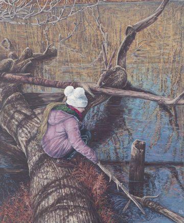 Sten Gutglück, Secret Reality II, 2020, Acryl auf Leinwand, 60 x 50 cm