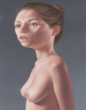 Leif Borges, Lightheaded Woman, 2020, Acryl und Öl auf Leinwand, 50 x 40 cm