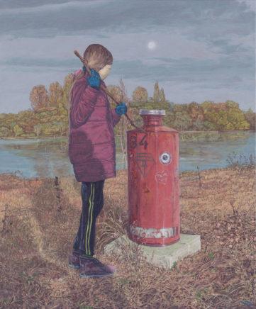 Sten Gutglück, Secret reality IV (Broken Dreams), 2020, Acryl auf Leinwand, 60 x 51 cm