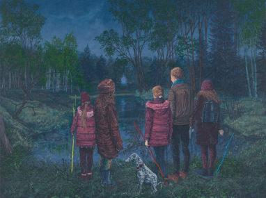 Sten Gutglück, Return from Utopia, 2021, Acryl auf Leinwand, 60 x 80 cm