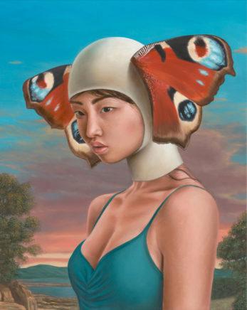 Leif Borges, Metamorphose, 2021, Acryl und Öl auf Leinwand, 50 x 40 cm