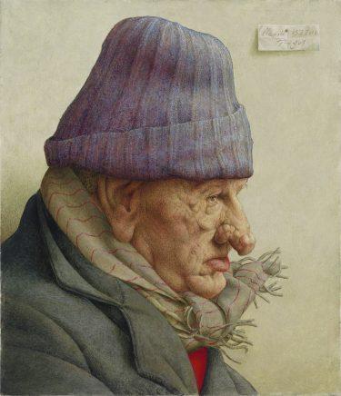 Michael Triegel, Alter in Neapel, 2016, Eitempera auf Hartfaser, 36,5 x 31 cm