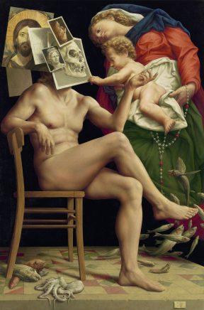 Michael Triegel, Theophanie, 2017, Mischtechnik auf Leinwand, 121 x 80 cm