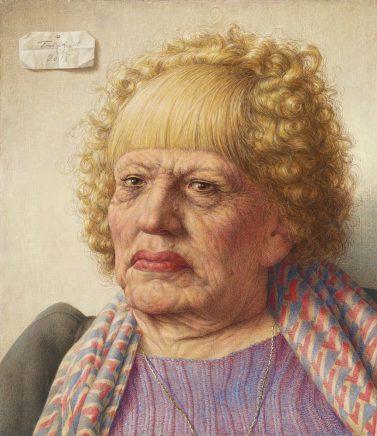 Michael Triegel, Neapolitanerin, 2018, Mischtechnik auf MDF, 36,5 x 31 cm