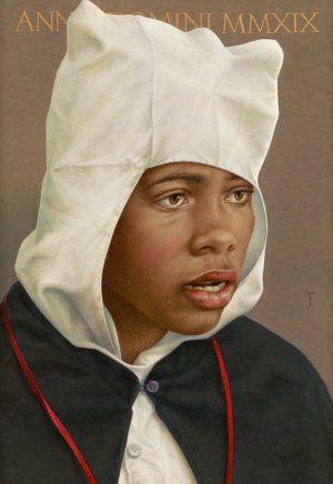 Michael Triegel, Junge aus Procida, 2019, Mischtechnik auf MDF, 39,8 x 27,8 cm